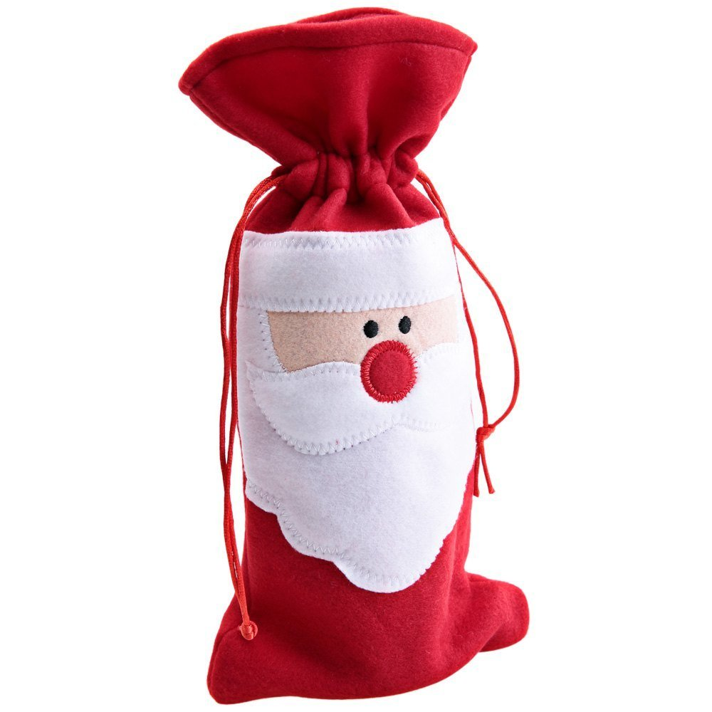 Christmas Santa Claus Wine Bottle Decoration Supplies Cover Bags with Flannel Cloth