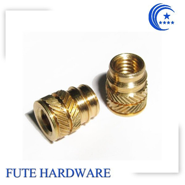 made in china plastic threaded molded-in brass insert