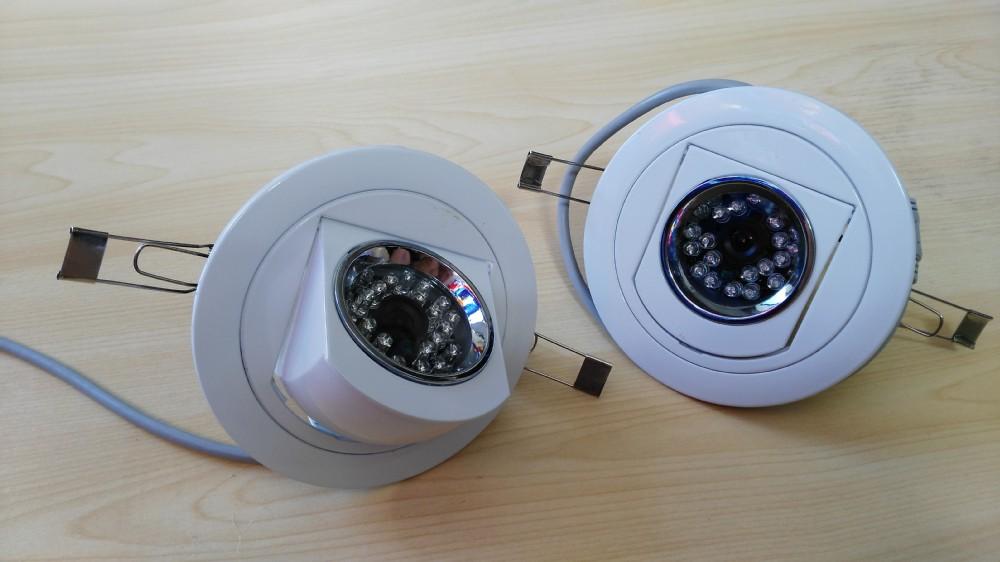 Hidden Covert Ceiling Flush Mount Lamp Type Camera