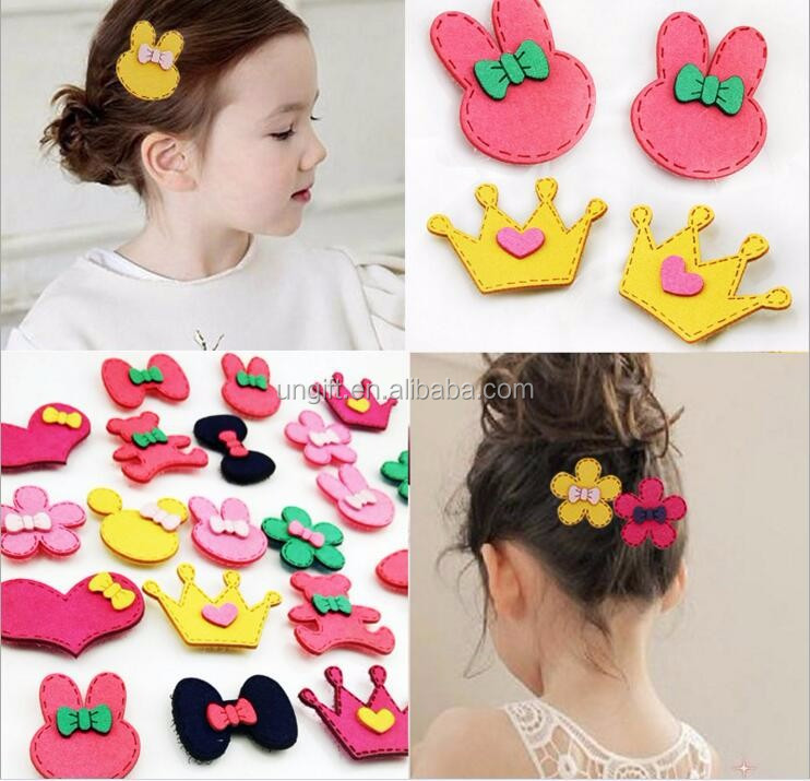 Wholesale Girl Cartoon Crown Bow Knot Posted Magic Belt Animal Shape Appealing Hair Wear Cute Sweet Princess Fashion Accessories