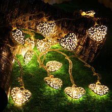 Kerst led hart string light battery operated led decoratieve licht voor <span class=keywords><strong>diwali</strong></span> 10 m string lights