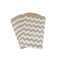 Food Safe Custom Wedding / Birthday Party Favor Treat Small Brown Gift Paper Bags For Candy / Cookie