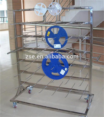 antistatic trolley reel storage with hung 48 pcb types smt pcb storage tool