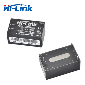 New Hi-Link ac dc 5v 3w mini power supply module 220v isolated switch mode power module supply HLK-PM01AC DC transformer