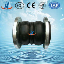 Rubber Expansion Joint Double Sphere Galvanized Flange