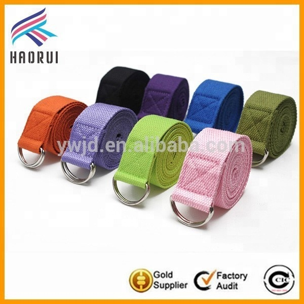 8 colors available yoga stretch out straps double D-ring yoga strap180cm wholesale, As picture or as customized