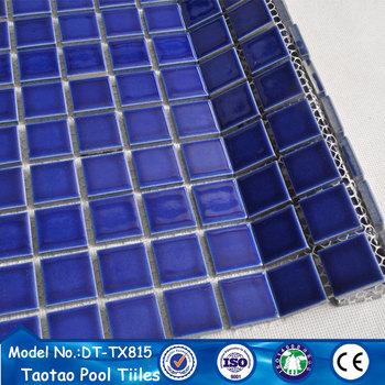 Blue Ceramic Mosaic Bathroom Pool Wall