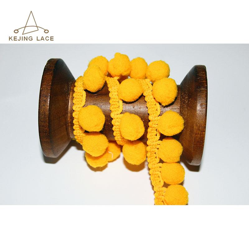 100% Polyester Wholesale Pom Pom Trim Ball Fringe