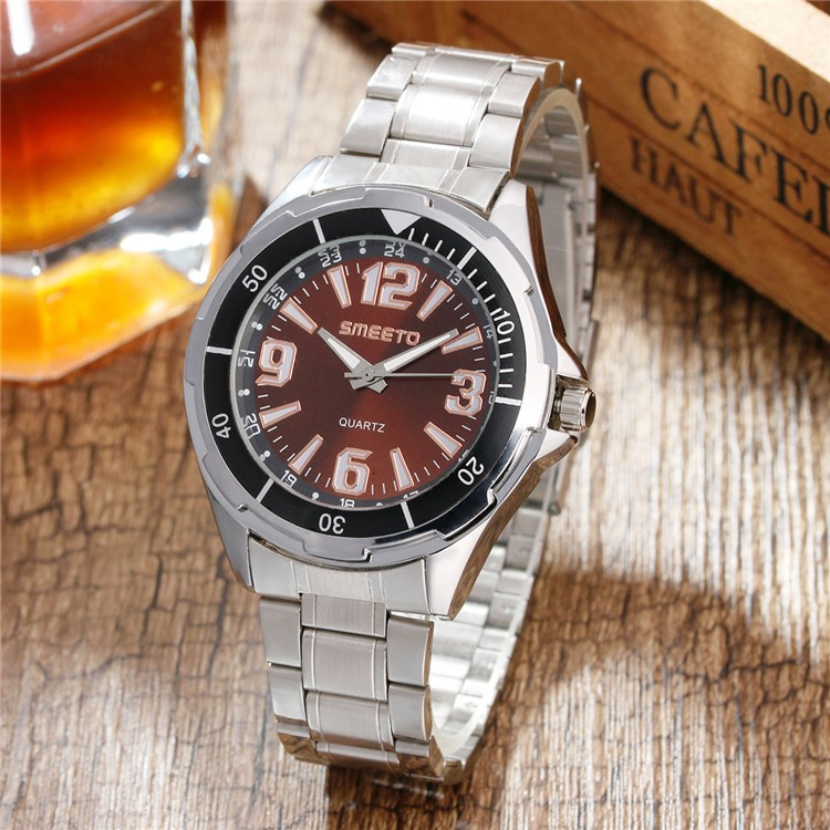 1611B online shopping silver steel men watch Japan movement quartz wrist watches for man