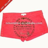 (#TG181S) 2012 fashion garment dye lady wholesale spandex shorts