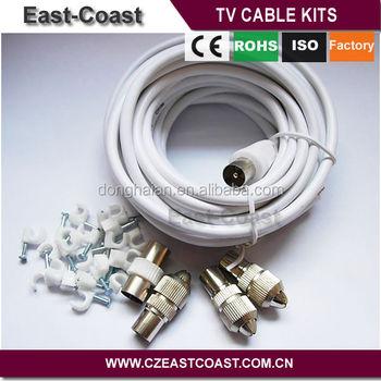 Brazil Market Diy Tv Aerial Coax Extension Cable Coax Kit - Buy Diy ...