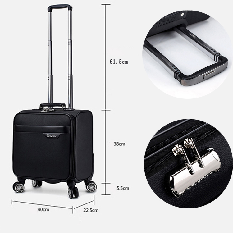 2017 Outdoor Customized Business Style Carry-on Trolley Bag With Laptop Bag