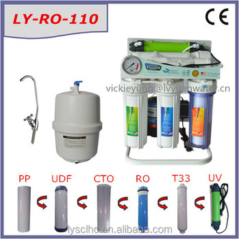 Elegant 50G/75G/100G Ro Water Purifier Under Sink Filter / Domestic Ro Water