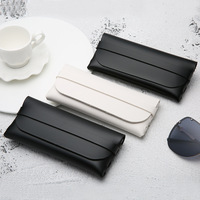 2019 New fashion eyewear bag black glasses pouch custom private logo pu leather soft sunglasses case