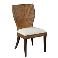 DC-613 Tropical Style Rattan Design Wooden Dining Chair For Restaurant