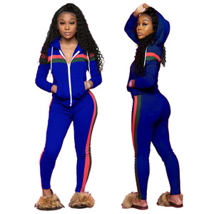 plus size two pieces set women clothing jogging suit hooded sweat suit