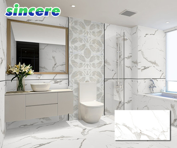 Interior Ceramic Living Room Wall Tiles White Marble Tilearbles