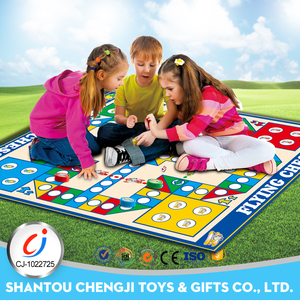 Indoors outdoors big size board toys play flying chess ludo game