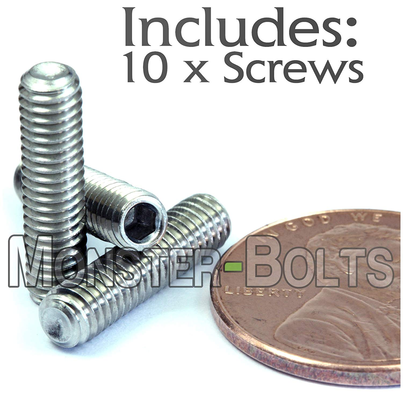 4mm x 0.70 x 5mm DIN 916 Cup Point Socket Set Screws Allen M4 Grub Qty 20