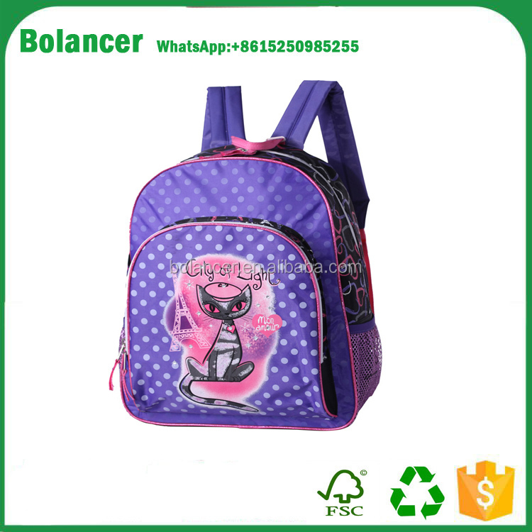 Custom Cute Popular Jute Backpack Girls School Bag