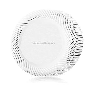 Elegant Dinnerware Set Ivory/Gold Look Like Plastic Silver Swirl Plates  sc 1 st  Alibaba & Elegant Dinnerware Set Ivory/gold Look Like Plastic Silver Swirl ...