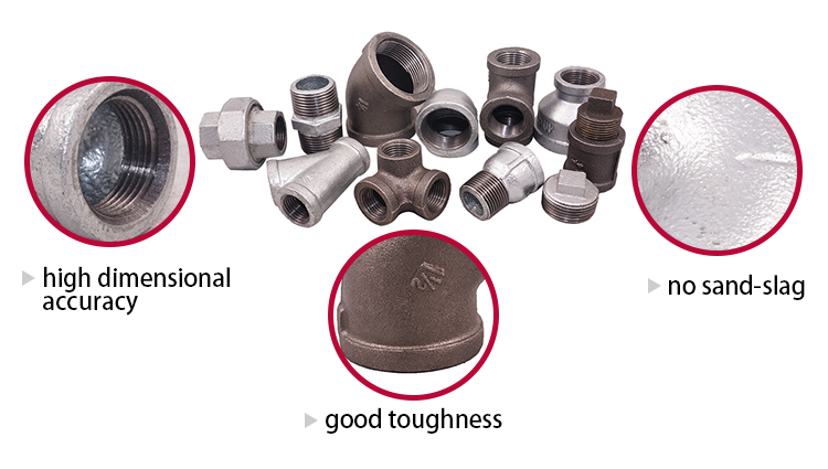 "ISO & FM sanitary fittings Malleable Iron Pipe Fitting galvanized 1/2"" coupling pipe fittings 220 270 coupling socket"