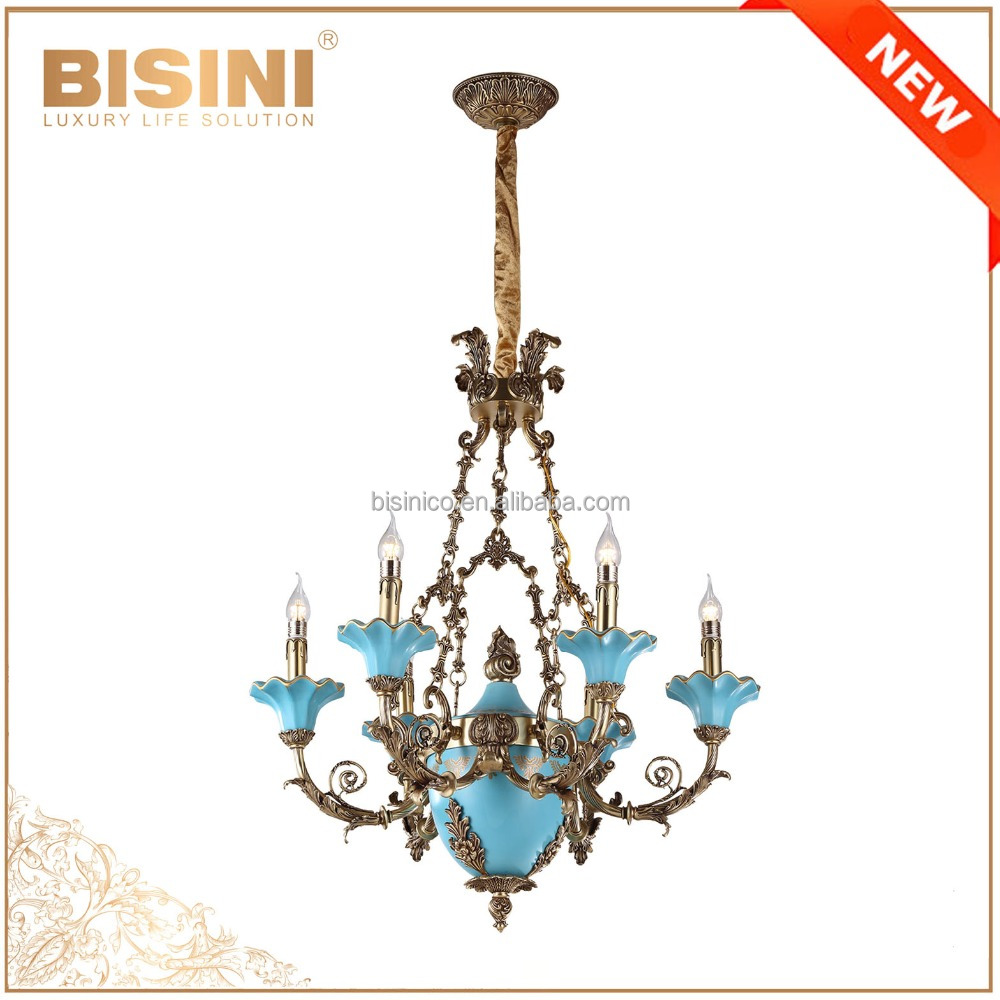 French rococo style 6 lights porcelain chandelier with antique french rococo style 6 lights porcelain chandelier with antique bronze handmade blue ceramic pendant light buy porcelain chandelierbronze chandelier arubaitofo Images