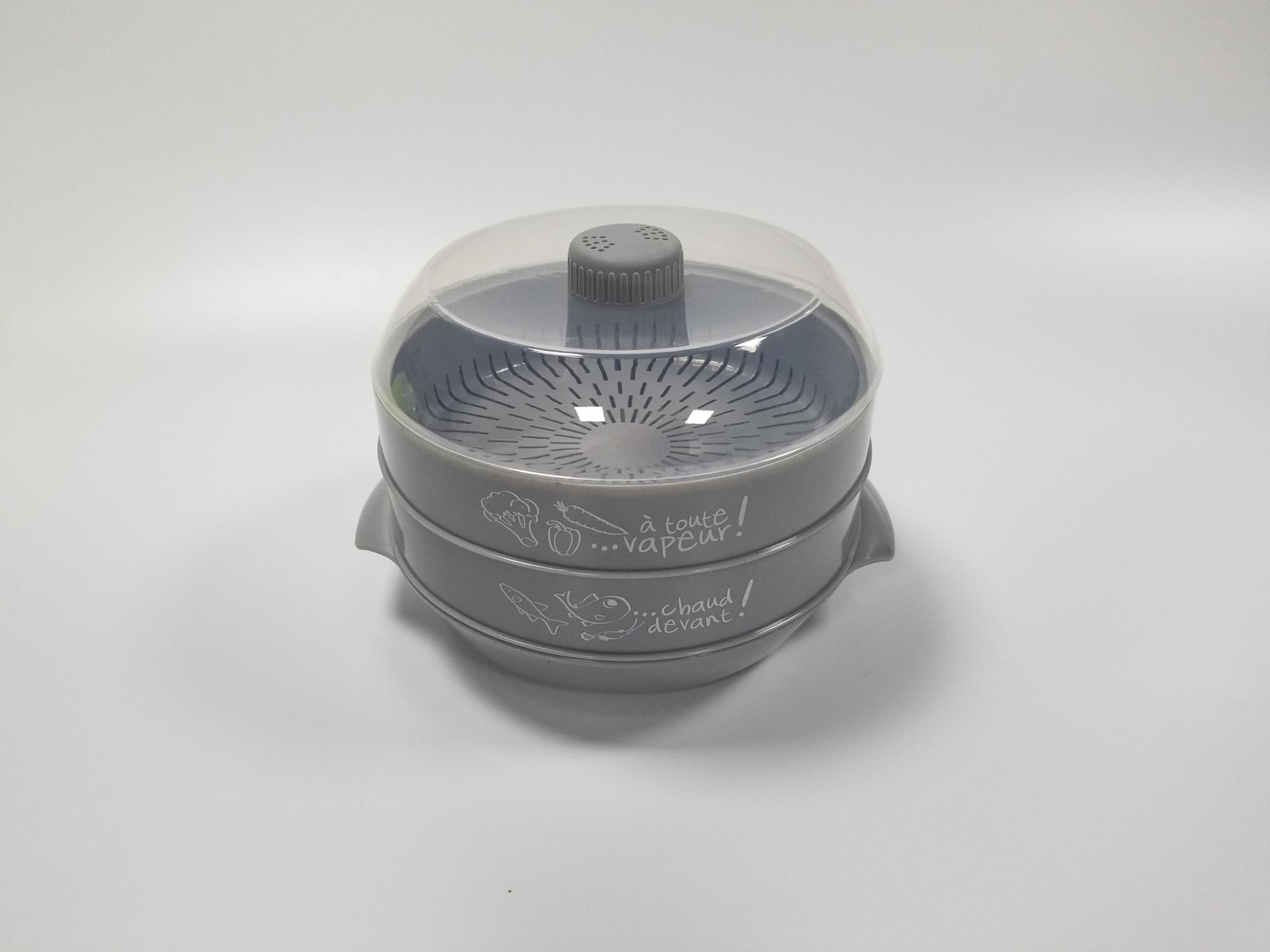 Heißer Verkauf Microwavable Dampfgarer Mikrowellenherd Dampfgarer Gemüse Fisch Garnelen Mikrowelle Dampfer