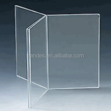 High Grade Clear Plastic Teller Top Unieke Folder Verticale Acryl <span class=keywords><strong>Menu</strong></span> Houder Stand