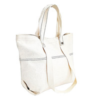 2019 New Design Premium Plain White Natural Recycled Custom Canvas Tote Bag Cotton