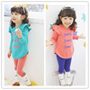 Bulk Surplus Stock For Sale Cheap Price Ruffle Kids Clothes Sets