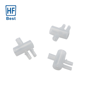 High Precision Custom Plastic Products Housing PFA PVDF PTFE Connector