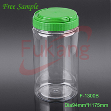 1300ml PET Clear High Quality Table Tennis Balls Plastic Bottles Food Jar Container