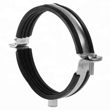 split rubber hinged Pipe tape clamps Heavy Duty wall types sizes price