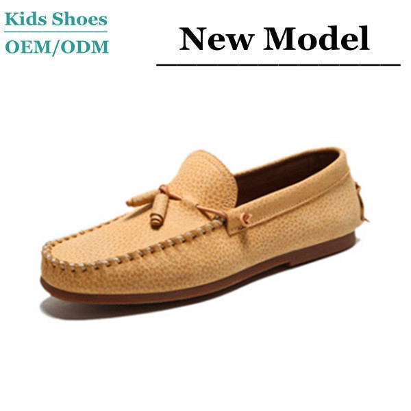 Ivoy leather loafers kids hiking moccasins italian leather moccasin shoes