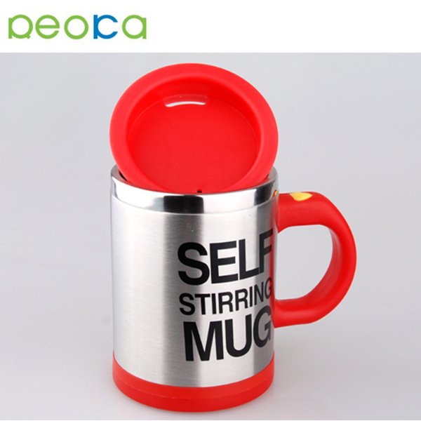 Stainless Steel Electric Plastic Mixing Cup Automatic Coffee Mugs Milk Tea Cups Lazy Self Stirring Travel Coffee Mug