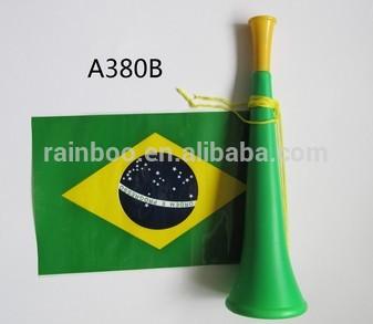 Billig billigen Kunststoff Fußballfan jubeln Kunststoff Spielzeug Kunststoff Französisch Horn Spielzeug Horn mit Flagge für Werbegeschenk