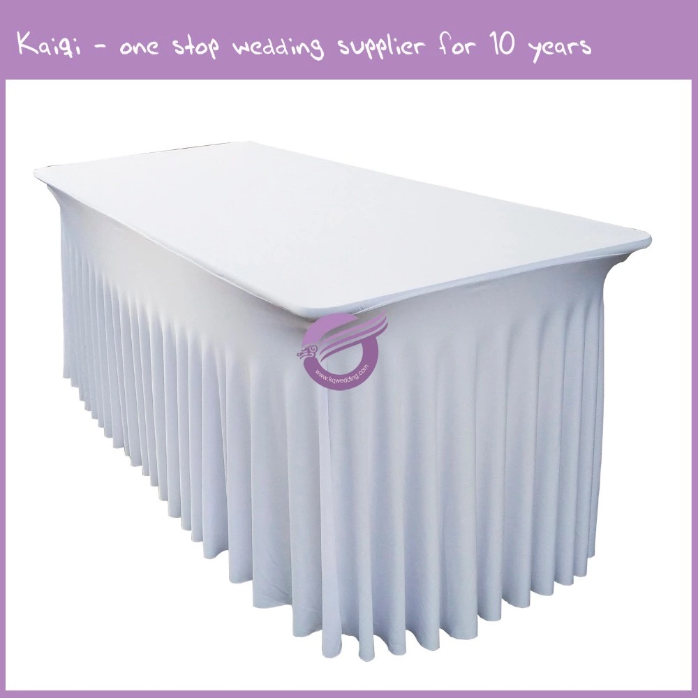 YT00500 wedding event decor spandex skirt table cover