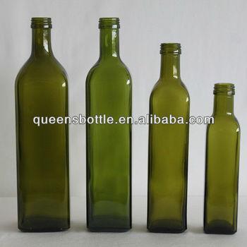 Decorative Oil Bottle Classy 250Ml Antique Dark Green Glass Olive Oil Bottle Decorative Oil Decorating Design