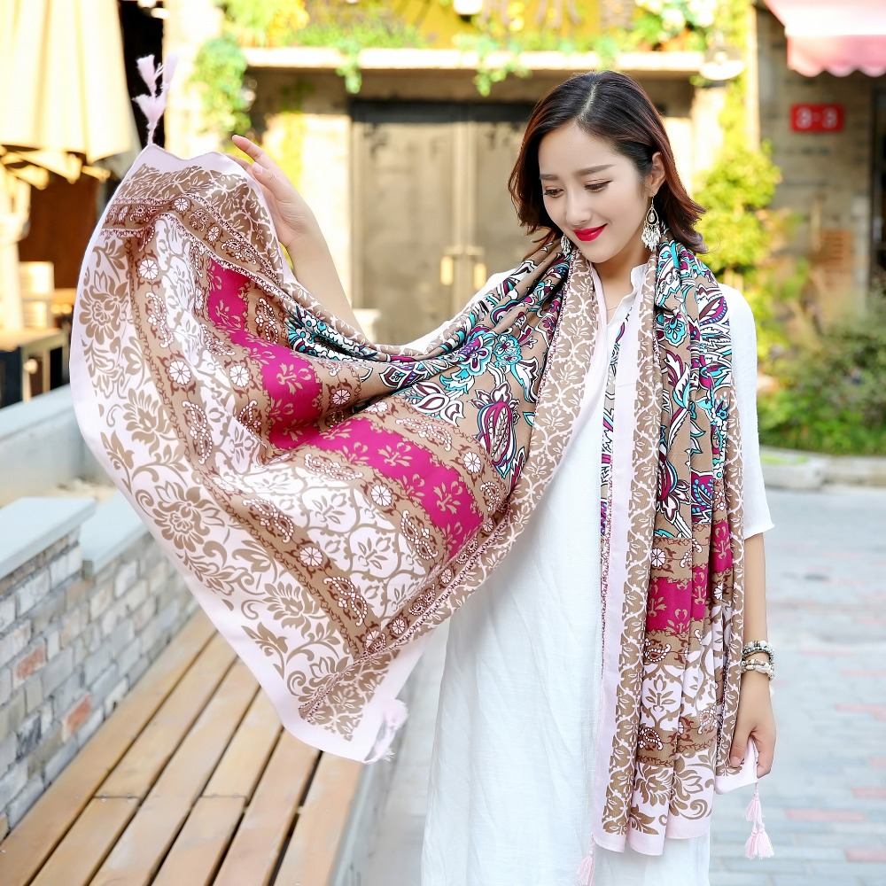 Scarves & Shawls Factory Cotton/polyester Blanket Scarf