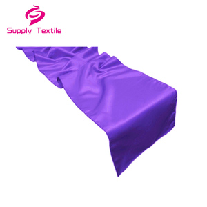 Modern wedding decoration purple satin table runners for rectangle tables