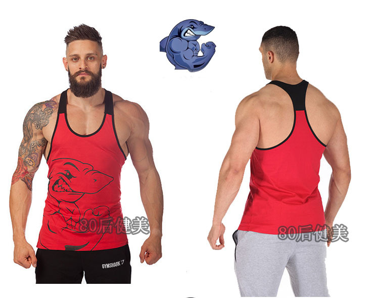 cde7c69f00939 Get Quotations · Hot sale 100% cotton M- XXL Plus size mens fitness gym  shark tank top