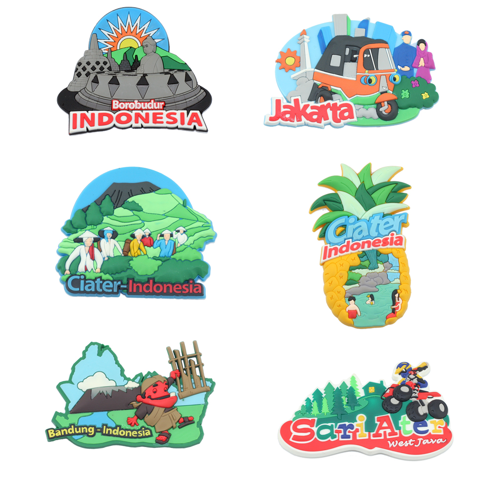 2018 best sell custom 3d soft pvc tourist souvenir fridge magnet