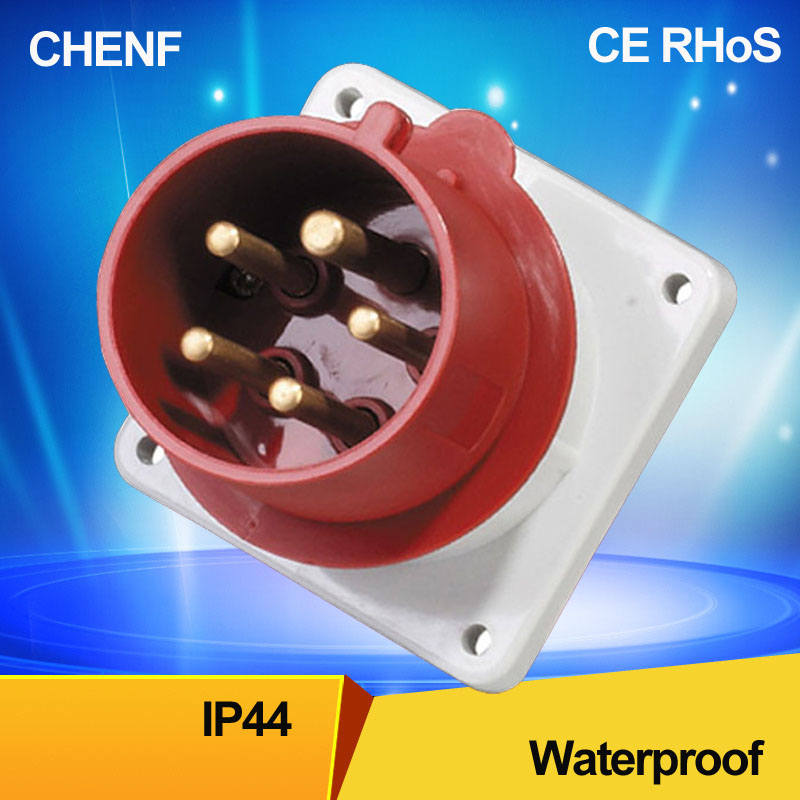 5pin 63A 400V Water- proof New wall mounted industrial electrical <strong>plug</strong> ip44