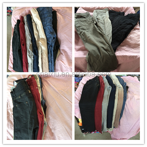 Cheap women summer cotton pants wholesale used clothing
