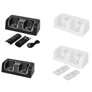 Charging Dock For Nintendo Wii Remote Dual Charging Charger Dock Station + 2x 2800mAh Battery Batteries