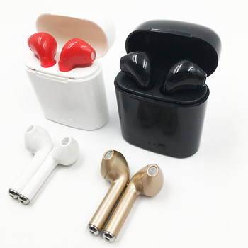 i7 tws twins earphone In-ear BT Headphones Stereo HiFi sound V4.2 wireless earbuds with charging box