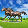 Large outdoor antique statue bronze running horse sculpture for sale