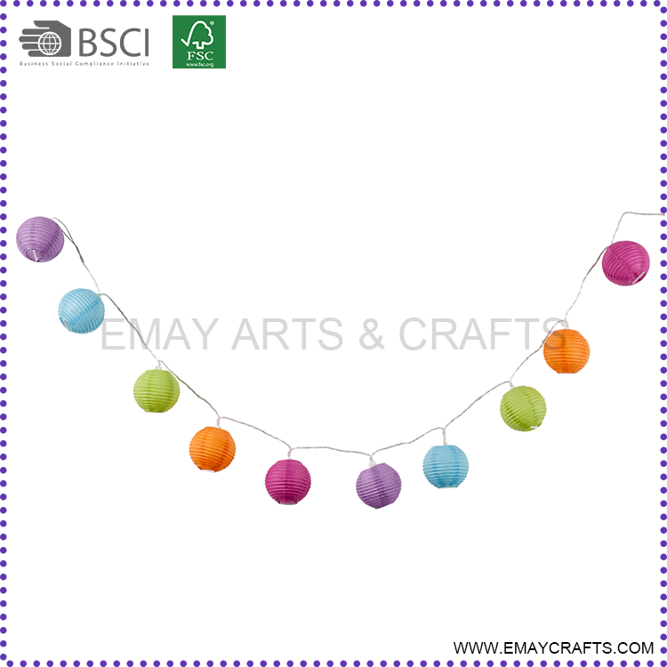 Party Decoration Hanging Round Paper Lantern Garland