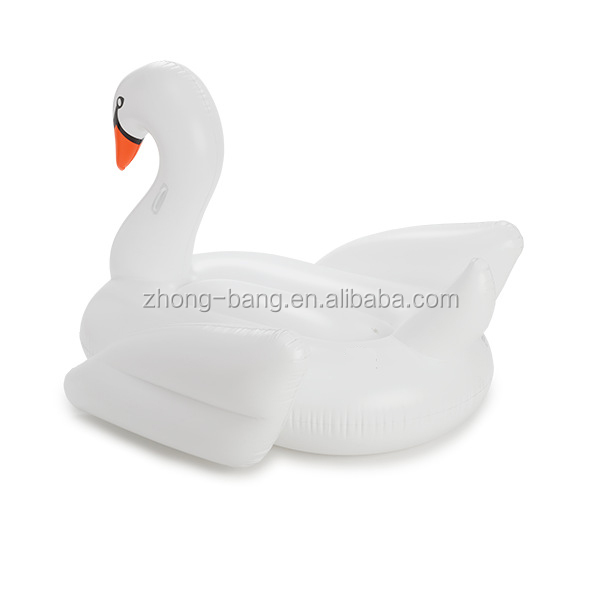 High Quality Original Design giant white inflatable swan pool float